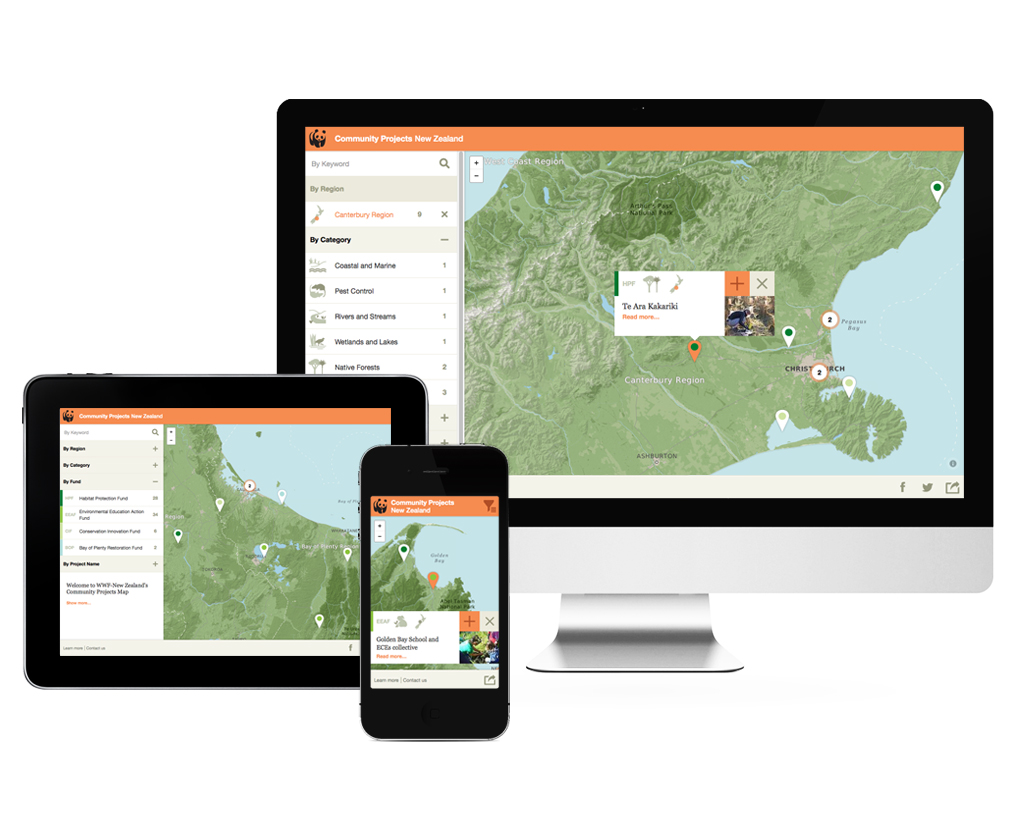 WWF Community Projects Map